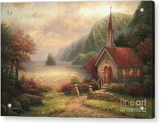 Compassion Chapel Acrylic Print by Chuck Pinson