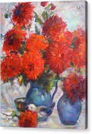 Complementary - Original Impressionist Painting - Still-life - Vibrant - Contemporary Acrylic Print