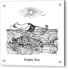 Complete Peace Acrylic Print by William Steig
