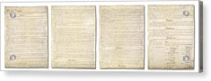 Complete Us Constitution Acrylic Print