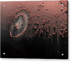 Complex Crater On Mars Acrylic Print