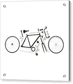 Components Of A Road Bike Acrylic Print by Science Photo Library