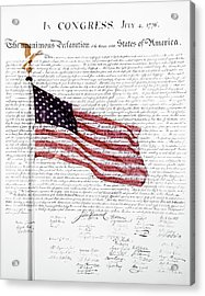 Composite Of American Flag Acrylic Print
