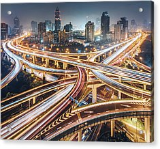 Composition Of The City Acrylic Print