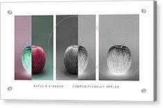 Compositionally Apples Acrylic Print by Natalie Kinnear