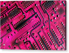 Computer Circuit Board Acrylic Print by Anonymous