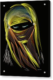 Computer Generated Image Of A Woman S Acrylic Print by Angela A Stanton
