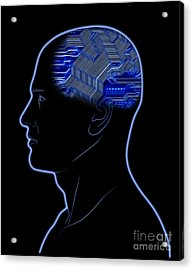 Computer In Head Acrylic Print