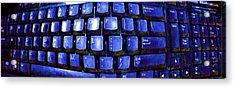 Computer Keyboard  Acrylic Print by Dan Twyman