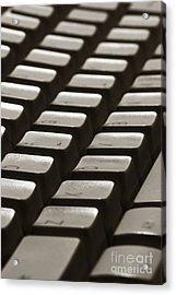 Computer Keyboard Acrylic Print by Olivier Le Queinec
