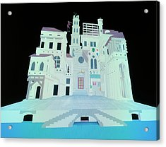 Computer Model Of Ancient Theatre Acrylic Print by Vaughan Hart