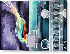 Computing Acrylic Print by Steve Ohlsen