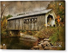 Comstock Bridge 2012 Acrylic Print by Deborah Benoit