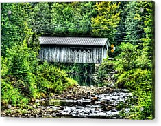Comstock Covered Bridge Acrylic Print by John Nielsen