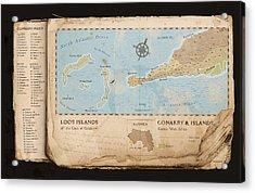 Conakry Map Acrylic Print by Dave Kobrenski