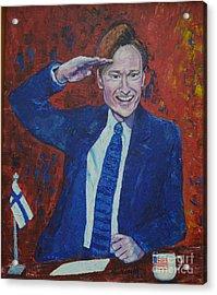 Conan O'brien Flagging Finland Acrylic Print