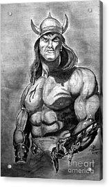Conan The Barbarian Acrylic Print by Bill Richards