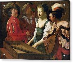 Concert, 1626 Oil On Canvas Acrylic Print