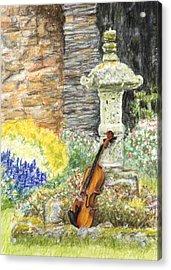 Concert Dans Le Jardin Acrylic Print by Kate Sumners