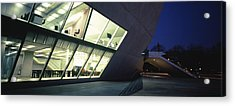 Concert Hall Lit Up At Night, Casa Da Acrylic Print by Panoramic Images