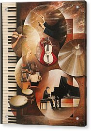 Concerto Pour Piano Acrylic Print by Frank Godille