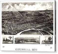 Concord - New Hampshire - 1899 Acrylic Print