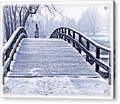 Concord Bridge In Winter Acrylic Print by Bill Boehm