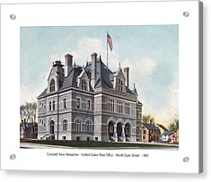 Concord New Hampshire - United States Post Office - North State Street - 1905 Acrylic Print