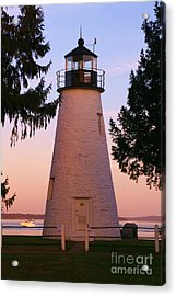 Concord Point Lighthouse Acrylic Print by Mark  Wall