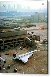Concorde At An Airport Acrylic Print by Us National Archives