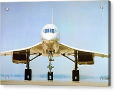 Concorde On Airport Runway Acrylic Print by Us National Archives