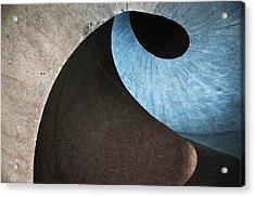 Concrete Wave Acrylic Print by Linda Wride