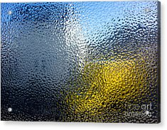 Condensation 03 - White House And Yellow Lorry Acrylic Print by Pete Edmunds