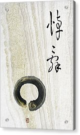 Acrylic Print featuring the mixed media Condolences Tooji With Enso Zencircle by Peter v Quenter