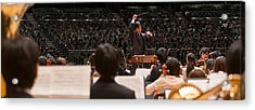 Conductor Leading Orchestra Acrylic Print by Panoramic Images