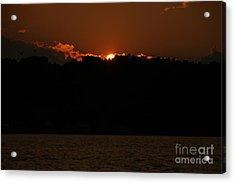 Conesus Lake At Dusk Acrylic Print by Steve Clough