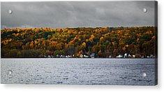 Conesus Lake Autumn Acrylic Print