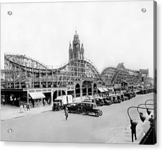 Coney Island - Bobs Tornado Roller Coaster Acrylic Print by MMG Archives