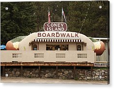 Coney Island Boardwalk Acrylic Print by Juli Scalzi