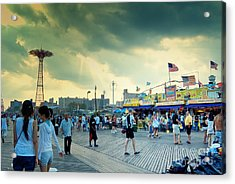 Coney Island Brooklyn New York City Acrylic Print by Sabine Jacobs