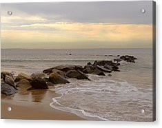 Coney Island Jetty Acrylic Print