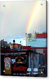 Coney Island Rainbow Acrylic Print