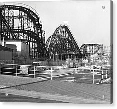 Coney Island - Roller Coaster Acrylic Print by MMG Archives