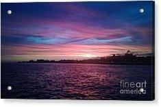 Coney Island Summertime Sunset Acrylic Print by John Telfer