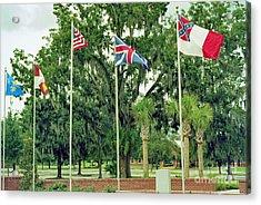 Confederate - Flags Of My Ancestors Acrylic Print by Wayne Nielsen