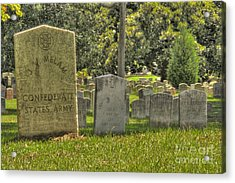 Confederate Graves Acrylic Print