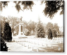 Confederate Monument, Magnolia Cemetery, Charleston Acrylic Print by Litz Collection