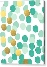 Confetti 2- Abstract Art Acrylic Print by Linda Woods