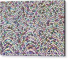 Confetti Paper Cut Spiral Design Acrylic Print