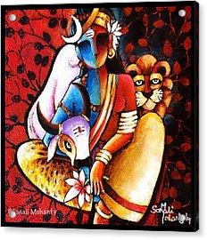 Confluence - Ardhanareshwar Acrylic Print by Sonali Mohanty
